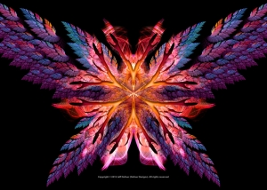 Flame Flower with Wings