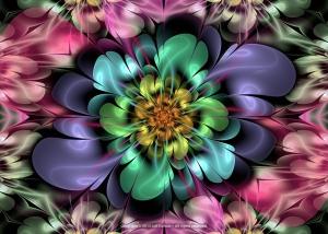 Floractal Garden Bloom