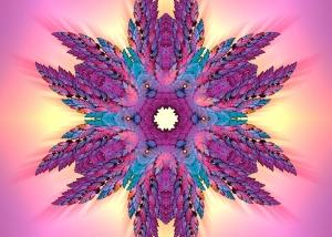 Feather Mandala - Sacred Symmetry