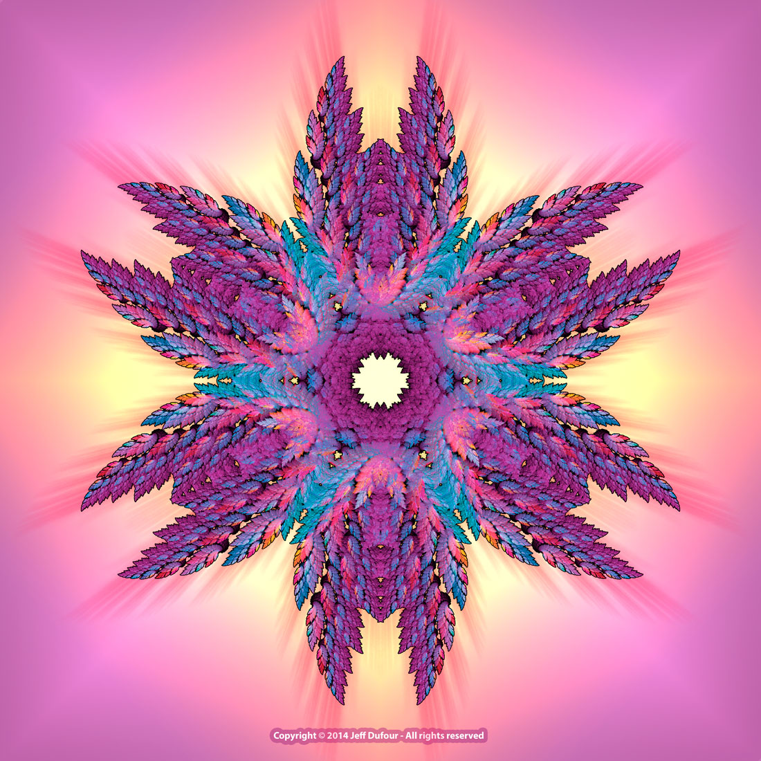 Feather Mandala - Sacred Symmetry