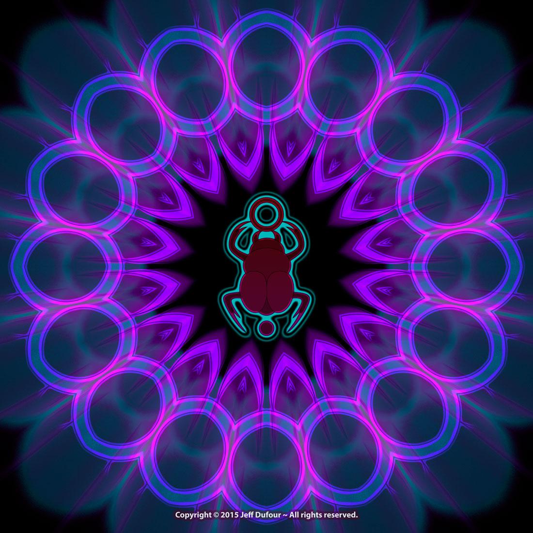 Scarab Mandala - Sacred Symmetry